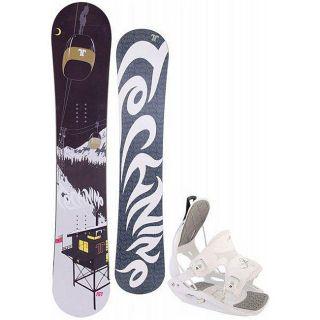 Technine True Love Womens 148 cm Snowboard with Flow Bindings