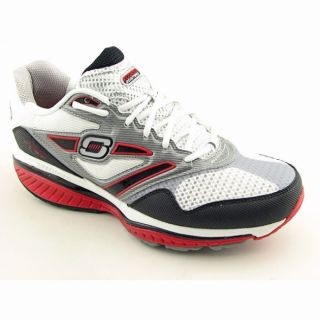 Skechers Shape Ups Mens Defiance Dare White/Black/Red Walking Shoes