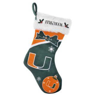 Miami Hurricanes Polyester Christmas Stocking