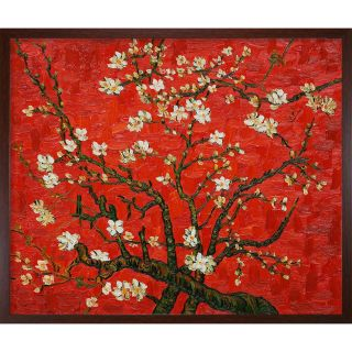 Van Gogh Branches Of An Almond Tree In Blossom Framed Canvas Art