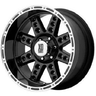 XD XD766 18x9 Black Wheel / Rim 8x6.5 with a 0mm Offset and a 130.81
