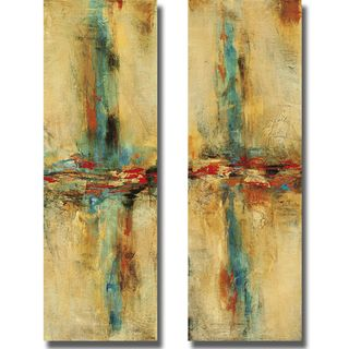 Nancy Santos Equilibrio I and II 2 piece Canvas Art Set