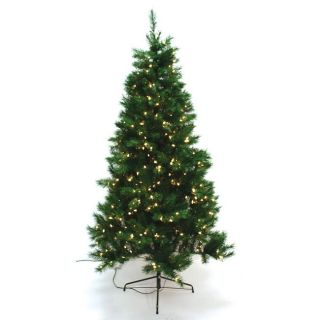 Good Tidings 150 Multi color Light Slim Plymouth Spruce Christmas Tree