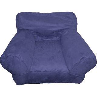BeanSack Kids Purple/ Blue Microfiber Bean Bag Club Chair