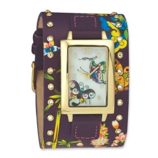 Ed Hardy Womens Siren Collection Butterfly Watch