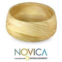Handcrafted Wood Imagination Large Serving Bowl (Guatemala