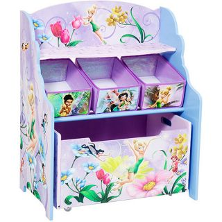 Disney Tinker Bell Fairies 3 tier Toy Organizer with Rollout Toy Box