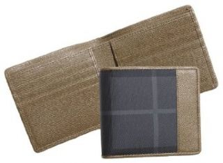 Burberry Check Print Billfold Wallet [Man] (Moss Green