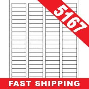5 Sheets (400 Labels) 5167 Size Return Address Labels for