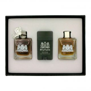 Juicy Couture Dirty English Mens 3 piece Fragrance Gift Set