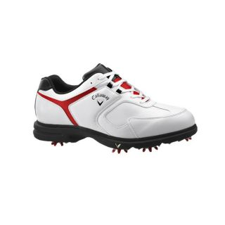 Callaway Mens Sport Era White/ Red/ Black Golf Shoes