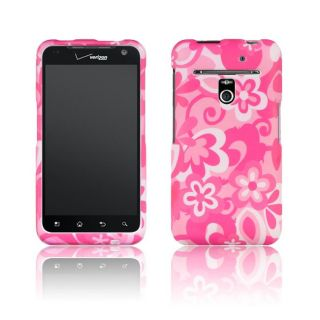 Luxmo LG Revolution Hot Pink with Flower Rubber Coated Case