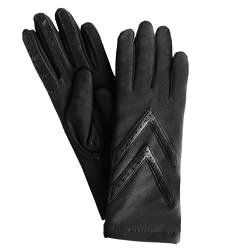 Isotoner Womens Spandex Gloves   Thinsulate Lined, Black