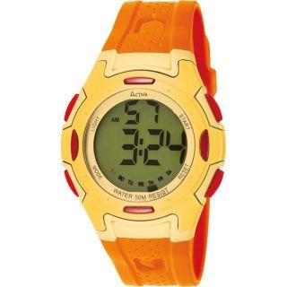Activa Womens Orange Rubber Watch