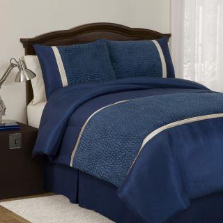 Lush Decor Royal Blue Animal Plush Full size 4 piece Comforter Set