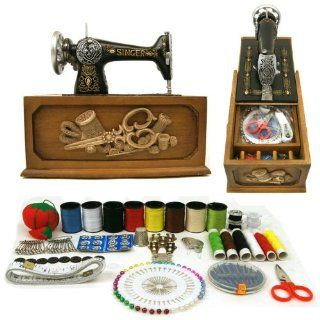 Singer Vintage Style Sewing Box w/ 137 pc. Accessories