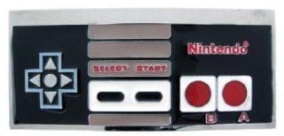 Nintendo NES Controller Belt Buckle Chrome Enamel