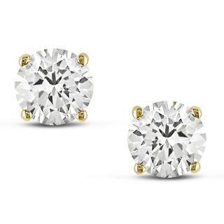 14k Yellow Gold 1ct TDW Certified Diamond Stud Earrings (H I, VS1 VS2