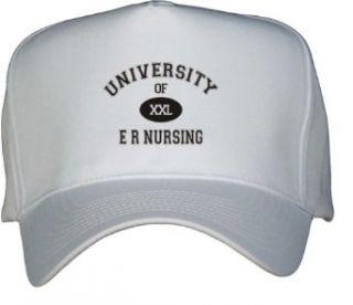 UNIVERSITY OF XXL ER NURSING White Hat / Baseball Cap