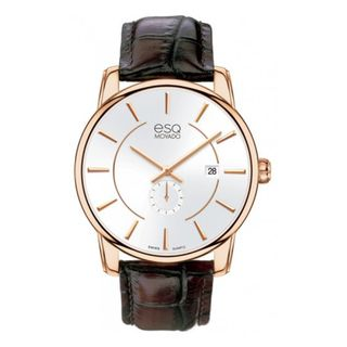 ESQ Mens Rose gold Stainless Steel Capital Watch