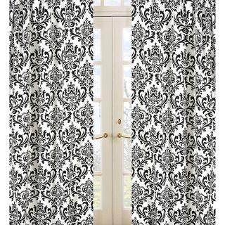 Damask Print Isabella 84 inch Curtain Panel Pair