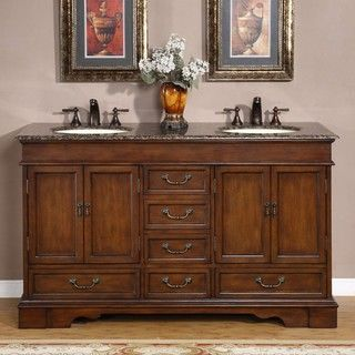 Silkroad Exclusive Tenino 36 inch Double sink Bathroom Vanity