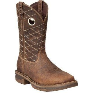 Mens Durango 11 Pull On Western Boots BROWN 12 (2E) Shoes