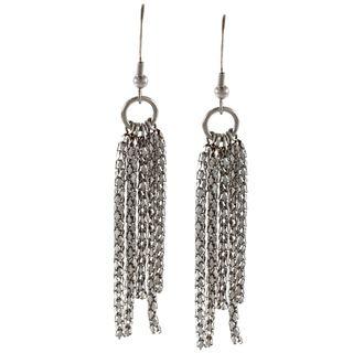 Inox Stainless Steel Popcorn Chain Earrings