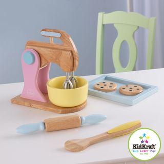 Kidkraft Pastel Cookie Baking Set with Rolling Pin and Mixer