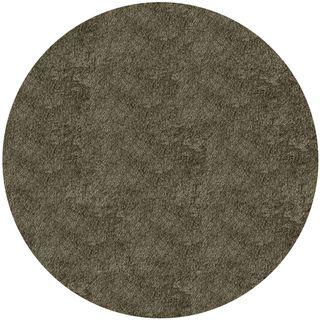 Handmade Posh Grey Round Rug (4 x 4)