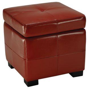 Lorenzo Red Flip top Storage Ottoman