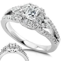 14k White Gold 3/4ct TDW Diamond Engagement Ring (H I, I1 I2