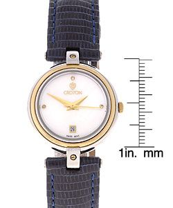 Croton Womans Equator Collection Blue Strap Watch