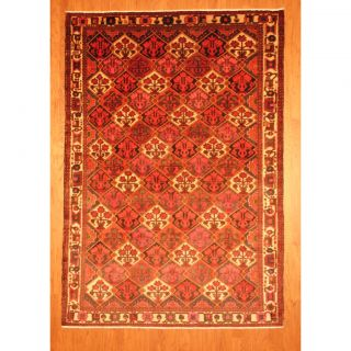 Persian Hand knotted Tribal Bakhtiari Red/ Ivory Wool Rug (68 x 97