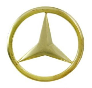 Goldtone Cutout Mercedes Logo Belt Buckle Clothing