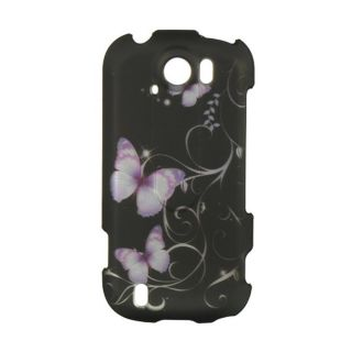 Premium HTC myTouch 4G Slide Black Butterfly Protector Case
