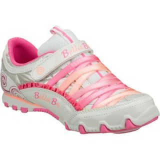 Girls Skechers Bella Ballerina Prima Sweet Spun White/Pink