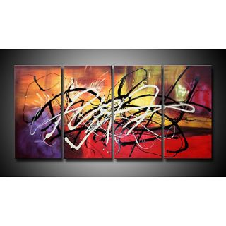 Hand painted Abstract Aftermath Canvas Art Set