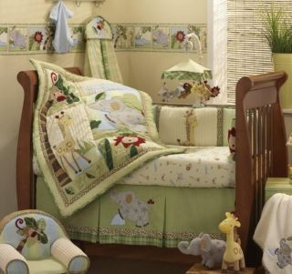 Lambs & Ivy Zoofari 6 piece Crib Bedding Set