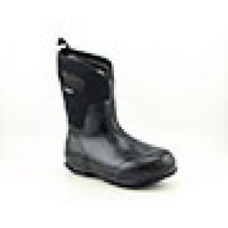 Bogs Womens Clsc Mid Handle Black Boots (Size 7)