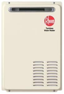 RHEEM 141KBTU Outdoor Tankless Water Heater Propane