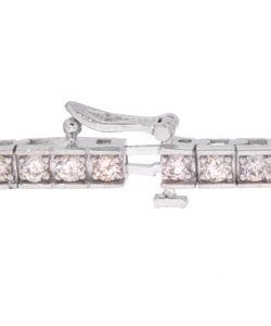 14k Gold 4ct Diamond Tennis Bracelet (I J, I1 )