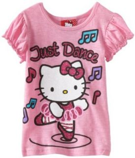 Hello Kitty Girls 2 6X HK Just Dance Tee, Pink, 2T