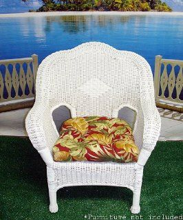 Wicker Furniture Outdoor Patio Chair Cushion   Hawaiian