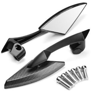 2x Custom JDM Style Carbon Pattern Black Anodized Blade Diamond Design