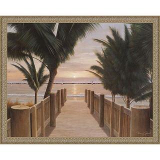 Diane Romanello Palm Promenade (c. 2004) Framed Canvas Art