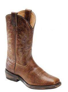 Double H Boots Western Vintage Roper DH5232 Mens Vintage Tan Shoes