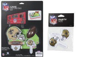 NFL New Orleans Saints Lay on Cake/Cupcake Decorations