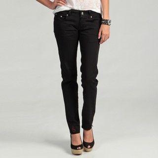 Crunch Juniors Black Stretch Skinny Jeans
