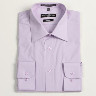 Jean Paul Germain Mens Lavender Convertible Cuff Dress Shirt